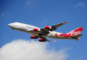 The plane leaving